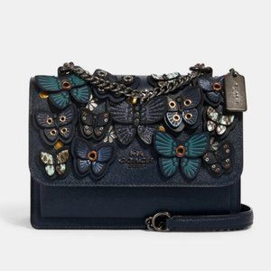 NWT Coach Klare Crossbody with  Butterfly Applique